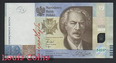【Louis Coins】B231-POLAND-2019波蘭紀念鈔票含原包裝冊,19 Złotych