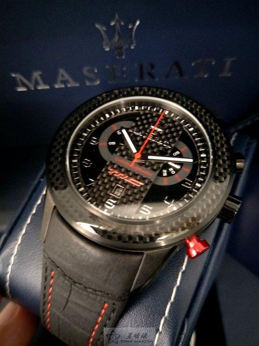 請支持正貨,瑪莎拉蒂手錶MASERATI手錶CORSA款,編號:MA00102,黑色錶面紅黑色皮革錶帶款