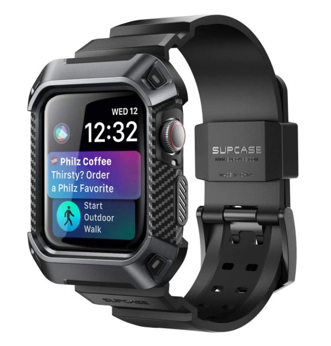 《FOS》日本 SUPCASE Apple Watch Series 6 SE 保護殼 防撞 防震 錶帶 40/44mm