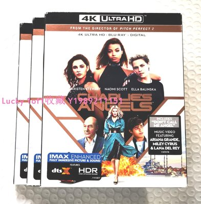 Lucky 1of1收藏正版藍光 Charlie's Angels 霹靂嬌娃 4K UHD碟IMAX BD中字US