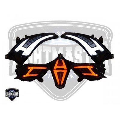 【貝爾摩托車精品店】燈之匠 五件式 LED 方向燈 煞車燈 前 後 TMAX 530 12-16 T MAX 燻黑殼