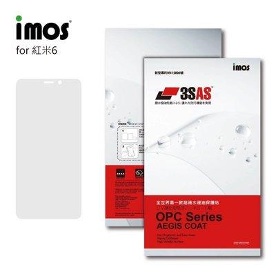 正版 imos 全世界第一款超疏水疏油保護貼,小米 紅米6 專用