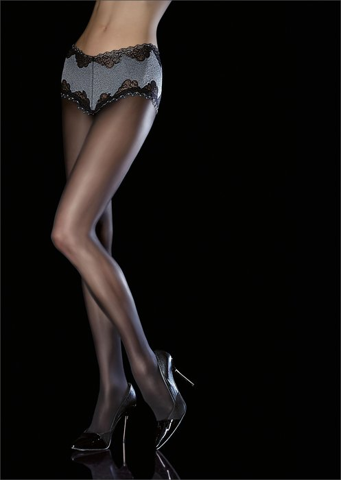°☆就要襪☆°全新歐洲品牌 Fiore AMITIS 性感奢華蕾絲刺繡平口褲造型絲襪(40DEN)