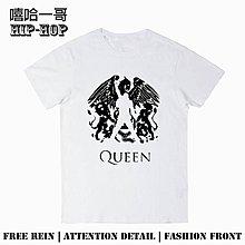 潮流前線!棉質短袖皇后樂隊queen We will rock you搖滾朋克T恤短袖圓領夏季男女情