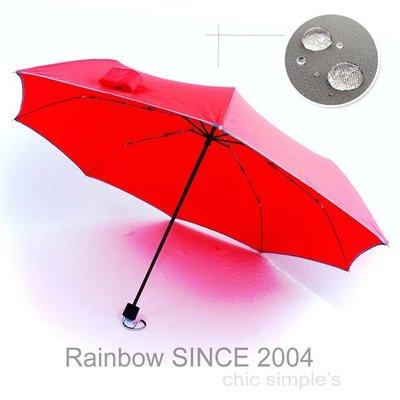 【ビッグ拨水】S.W.R_EPP 輕質大撥水機能 / 精巧版 (紅) /雨傘防UV傘防風傘三折傘大傘抗UV傘陽傘(免運)