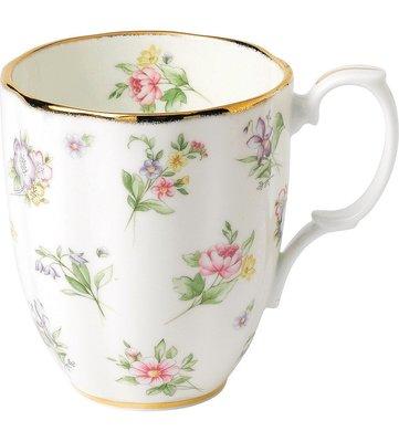 全新正品。英國皇家品牌 ROYAL ALBERT。新百年紀念系列。1920年 Spring Meadow 馬克杯。預購