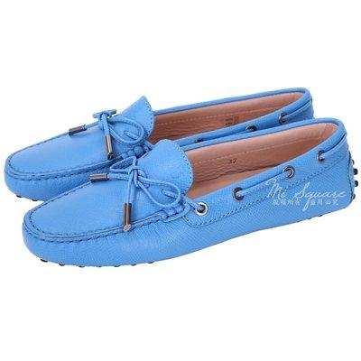 米蘭廣場 TOD'S Gommino 壓紋牛皮綁帶豆豆休閒鞋(女鞋/藍色) 1540692-23