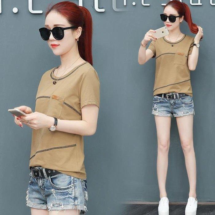2018夏裝新款韓版寬鬆短袖t恤女大碼女裝百搭打底衫女士夏天上衣