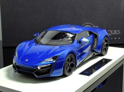 【MASH】現貨特價 Top Marques 1/18 Lykan Hypersport 2014 金屬藍