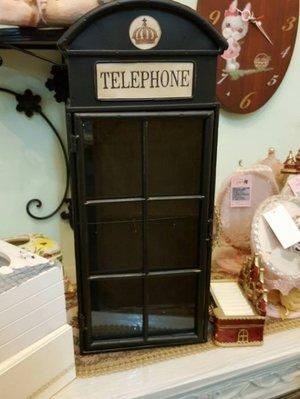 Key box 工業風   電話亭造型...