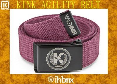 [I.H BMX] KINK AGILITY BELT 時尚流行休閒皮帶 栗色 自行車下坡車攀岩車滑板直排輪DH極限單車