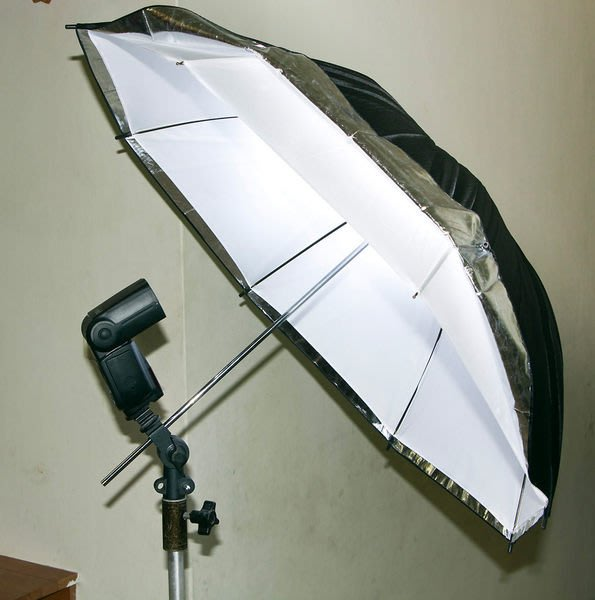 呈現攝影-柔光傘-透白兩用傘 40吋101cm 2用傘 反射/透射 白/銀兩色 外閃 棚燈 外拍 離機閃