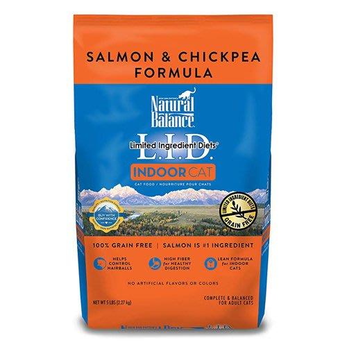 【寵物王國-貓館】Natural Balance-NB低敏無穀膺嘴豆鮭魚全貓配方5磅 ,可超取!