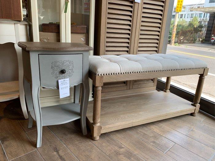 【EDE1】上福利百加傢俱 法式床頭櫃 床 橡木 北歐風 日式 歐式 鄉村風 工業風 實木 南法 復古 法國