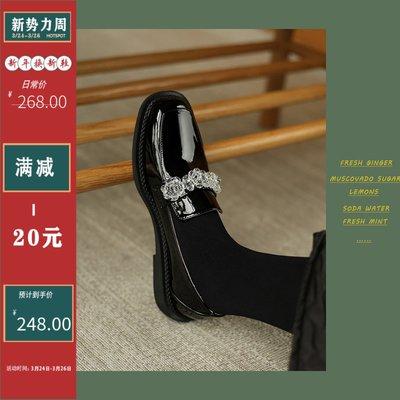 朵朵韓國鞋專賣~HOTSPOT 春季復古瑪麗珍鞋真皮英倫風單鞋女低跟樂福鞋百搭平底鞋