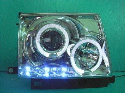 》傑暘國際車身部品《 全新外銷高品質TOYOTA TACOMA燻黑LED燈眉光圈魚眼大燈
