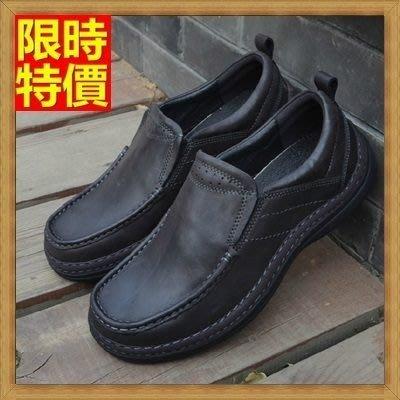 氣墊鞋 皮鞋(零碼賠售出清、恕不退換)-商務休閒舒適真皮時尚男鞋子71l16[獨家進口][米蘭精品]