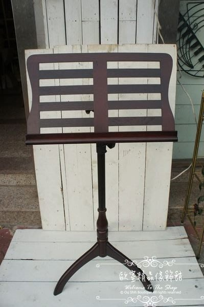 ~*歐室精品傢飾館*~ 木製 琴譜架 樂譜架 MENU架(落地型.可伸縮)~新款上市~