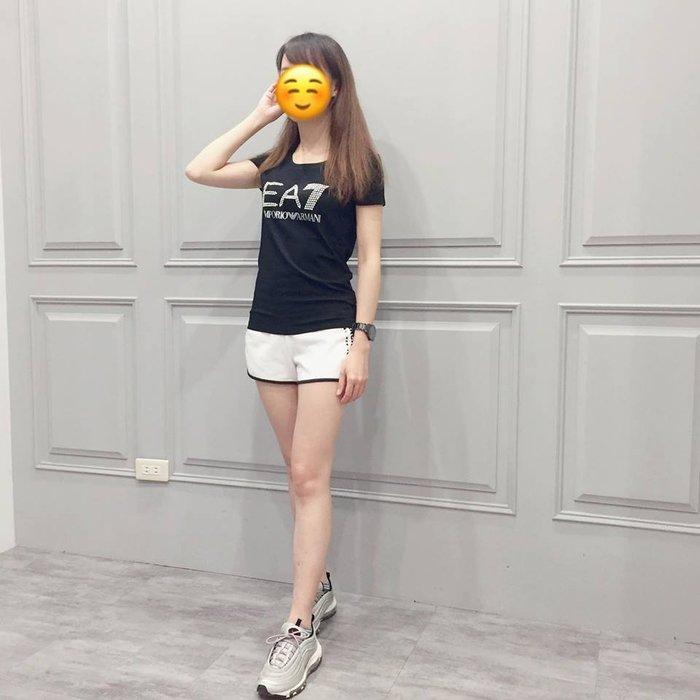 【現貨】女 Emporio Armani EA7 大LOGO 短袖T恤 黑色 保證正品 歡迎來店參觀選購