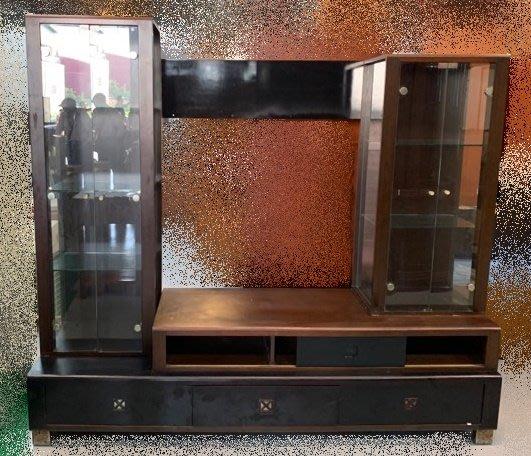 【宏品二手家具館】 中古傢俱 家電 A61502*胡桃高低電視櫃*矮櫃/客廳沙發櫃/高低平面櫃/酒櫃