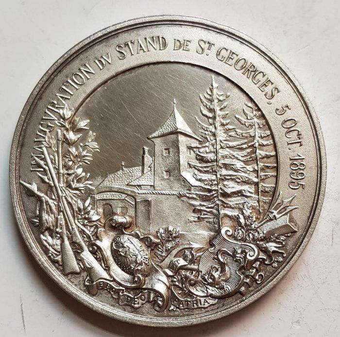 瑞士銀章 1895 Geneva St. Georges Shooting Silver Medal.