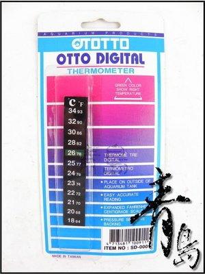 E。。。青島水族。。。SD-0001台灣OTTO奧圖-溫度貼片 溫度片 片狀溫度計 條型溫度計貼片==18℃ ~34℃