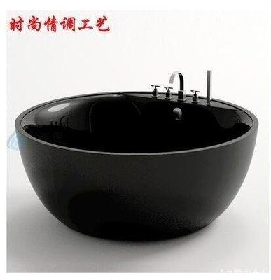 【綠野小筑】 推薦進口雙層亞克力圓形獨立浴缸大尺寸雙人酒店百搭浴盆澡盆C65V2