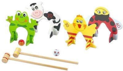 **含運 現貨可超取**Classic world 德國經典木玩 客來喜 木製槌球遊戲 幼兒益智玩具