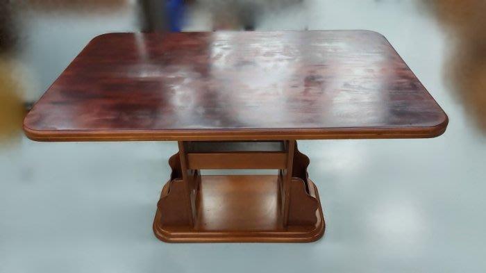 樂居二手家具(北) 便宜2手傢俱拍賣E80912*胡桃餐桌* 餐桌椅組 休閒桌椅組 洽談桌椅組 全新/中古買賣