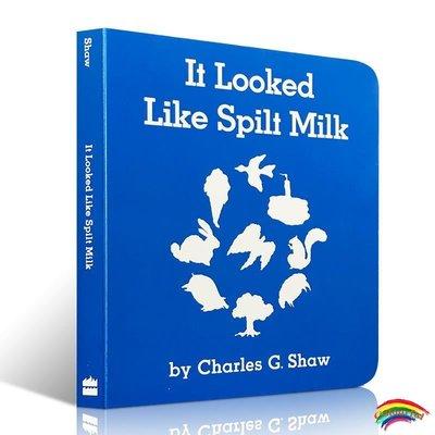 英文原版繪本 It Looked Like Spilt Milk 看上去像打翻了的牛奶  發揮想象力 益智 紙板書 英語啟蒙張湘君親子早教圖畫書
