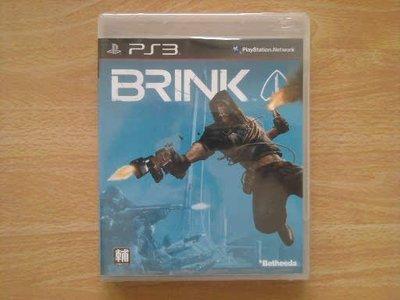 全新未拆 PS3 BRINK(邊境封鎖島 邊緣戰士) 遊戲片