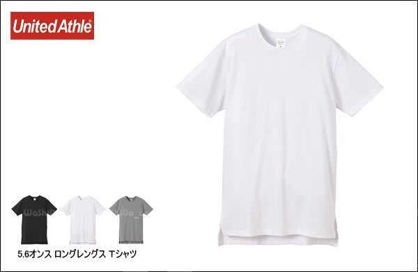 WaShiDa【UA5009】United Athle UA 2017 S/S 5.6 oz  長版 開衩 素面 短袖T
