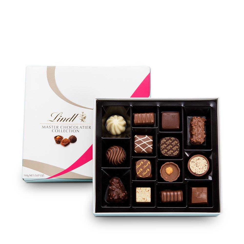請先詢問[要預購] 英國代購 瑞士LINDT 巧克力大師系列綜合巧克力禮盒 14入 144g
