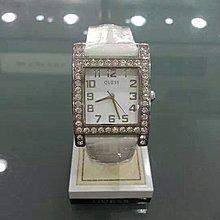 [永達利鐘錶] GUESS 方形銀殼鑽框簡約白面皮帶錶 GWW0129L1 總公司12個月保固 30mm