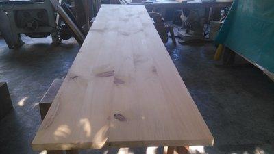台灣黃檜拼接桌板/層板/鐵件搭配