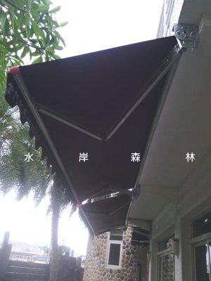 [宜蘭帆布店]  歐式遮陽棚*店家門面造型*手動伸縮+固定遮雨棚:店面生意*攤販*居家屋簷