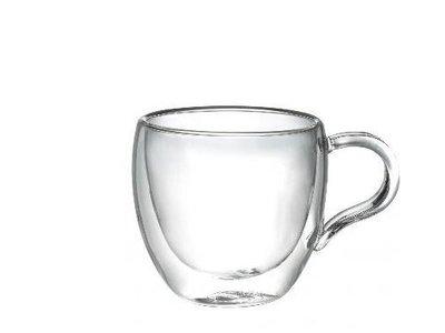 晴天咖啡☼ 手工雙層玻璃杯 加厚型100ml 咖啡杯 真空保溫杯 隔熱杯 品茗杯  雙層杯