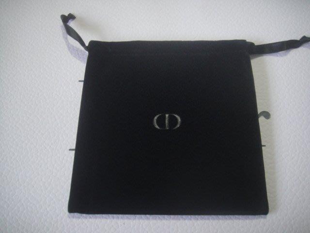 全新Dior 迪奧 黑色絨布束口小袋  氣墊粉餅隨身袋  約13*12.5cm