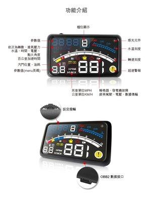 【皓翔】速霸 W08 4色多彩HUD多功能 抬頭顯示器