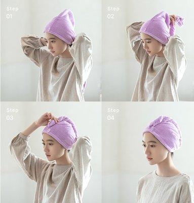 超強快速吸水乾髮毛巾 包頭巾柔軟浴帽 比普通毛巾吸水快七倍 .【RS532】