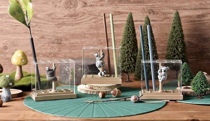 【beibai不錯買】日系雜貨 zakka 日本進口 動物筆筒 動物園文具架