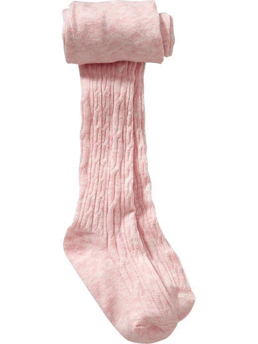 【Nichole's歐美進口優質童裝】Old navy 女童秋冬保暖粉色針織褲襪 *Carter's/OshKosh