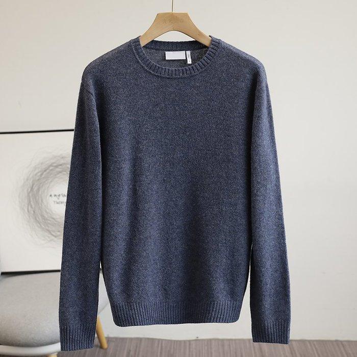 ☆MR.STORE.A☆日單高端簡約羊毛混紡柔軟舒適針織衫毛衣(藍色)~現貨+預購