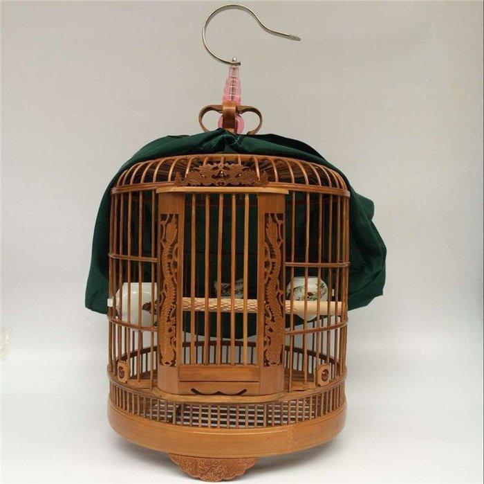 竹籠鳥籠 大號老竹料鳥籠 竹制鳥籠子