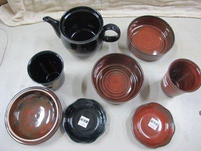 二手舖 NO.351 紅天目喜洋洋茶具組
