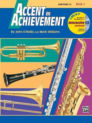 【599免運費】Accent on Achievement, Book 1【Baritone T.C】 AP.17094