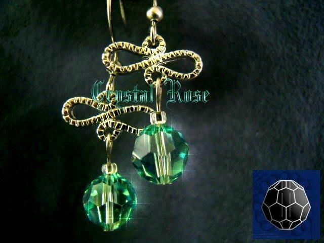 ※水晶玫瑰※ SWAROVSKI 8mm水晶珠 耳勾式針式耳環(DD343)~出清~三對免郵