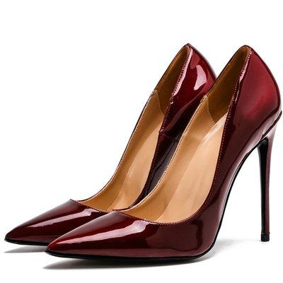 【明良精品】 PCI-752優質PU皮革/超纖透氣內裡/跟高8~12cm尖頭高跟鞋【製作鞋碼範圍:33~45碼】