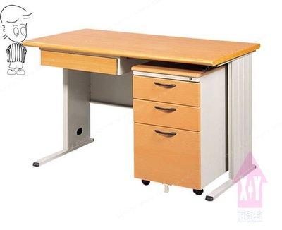 【X+Y時尚精品傢俱】OA辦公桌系列-木紋檯面TH-120 辦公桌(含中抽+活動櫃).主管桌.台南市OA辦公家具