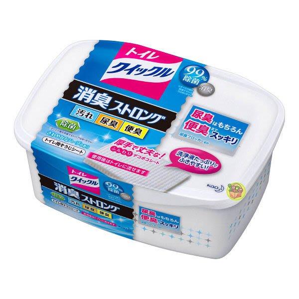 【JPGO日本購】日本製 花王kao 廁所用 99%除菌 消滅尿臭.便臭 清潔濕紙巾~盒裝 10枚入 #870